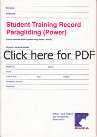 Paramotor Syllabus Student training record